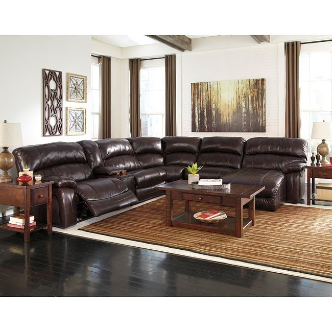 Gorgeous Ashley Furniture Microfiber Sectional Damacio Dark Brown Reclining Modular Sectional W Power Signature