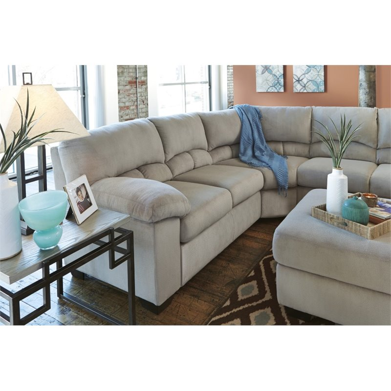 Gorgeous Ashley Two Piece Sectional Ashley Dailey 2 Piece Sectional In Alloy 95401 55 56 Kit