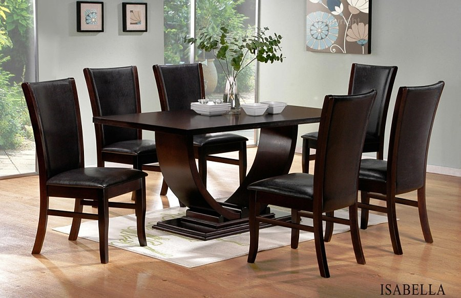Gorgeous Black And Brown Dining Chairs Nice Dining Room Ideas With Black Tables And Brown Dining Chairs For