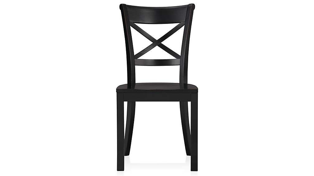 Gorgeous Black And Wood Dining Chairs Vintner Black Wood Dining Chair And Cushion Crate And Barrel