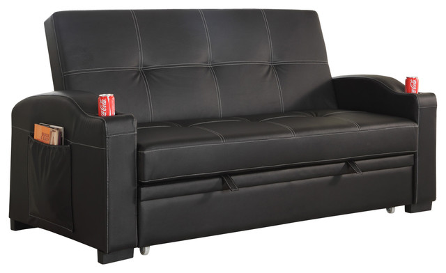Gorgeous Black Leather Futon Couch Black Faux Leather Futon Contemporary Futons All In One