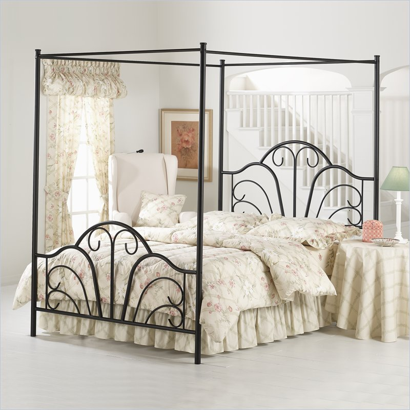 Gorgeous Black Wire Bed Frame Enjoy The Romantic Bedroom With An Iron Canopy Bed Frame Homesfeed