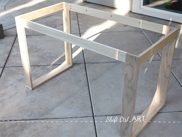 Gorgeous Build Modern Desk Ikea Hack How To Build A White Desk With A Miter Saw And A Kreg Jig