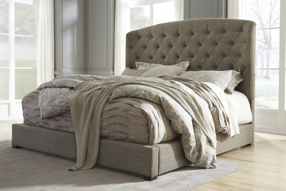 Gorgeous California King Tufted Sleigh Bed Gerlane California King Uph Bed B6577895 Complete Beds