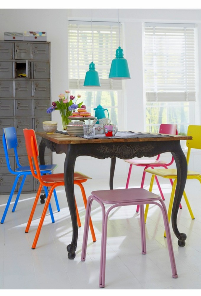 Gorgeous Colorful Kitchen Chairs Colorful Dining Chairs Modern Mix Up Design Lovers Blog