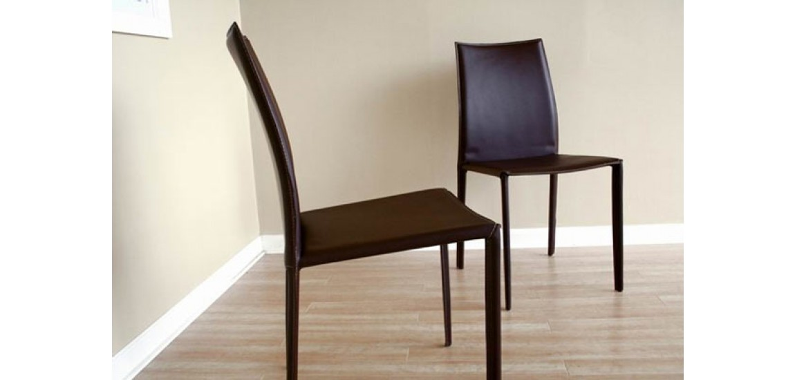 Gorgeous Contemporary Leather Dining Chairs Rockford Contemporary Brown Leather Dining Chair