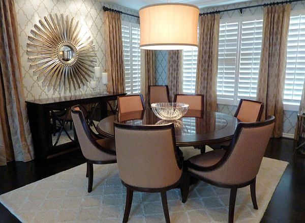 Gorgeous Contemporary Round Dining Table For 8 Charming Ideas 8 Person Round Dining Table Surprising Dining Room