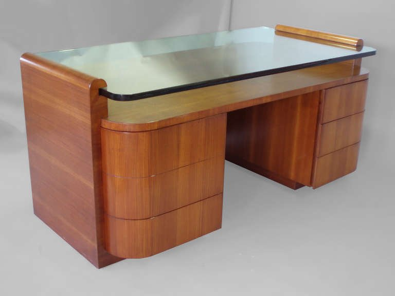 Gorgeous Custom Made Desks Large Custom Made Glass Top Executive Desk At 1stdibs