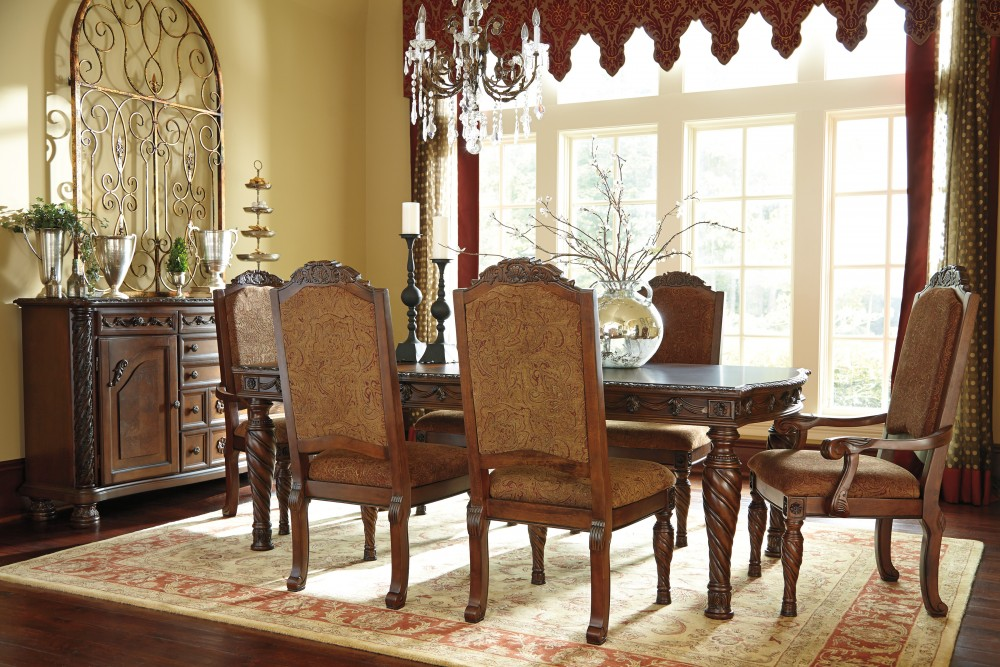 Gorgeous Dining Room Chairs Arms North Shore Rect Dining Room Ext Table 4 Uph Side Chairs 2 Uph