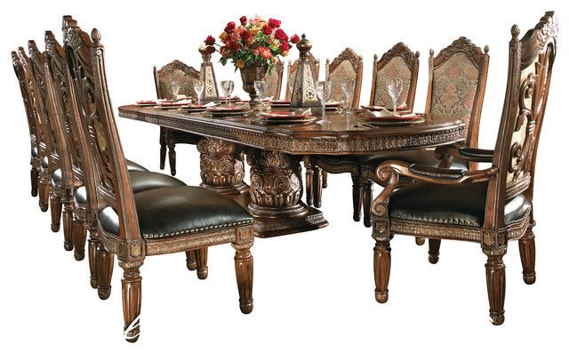 Gorgeous Dining Room Table Chairs 8 Piece Villa Valencia Dining Room Table Set With China
