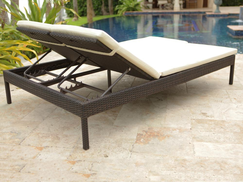 Gorgeous Double Chaise Lounge Outdoor Outdoor Double Chaise Lounge Design The Homy Design