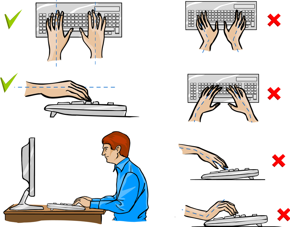 Gorgeous Ergonomic Keyboard Position Selecting The Right Ergonomic Keyboard And Adjustable Tray