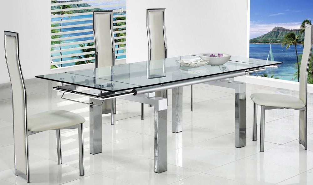 Gorgeous Extending Glass Dining Table And Chairs Dining Room Tables Stunning Dining Table Sets Glass Dining Room