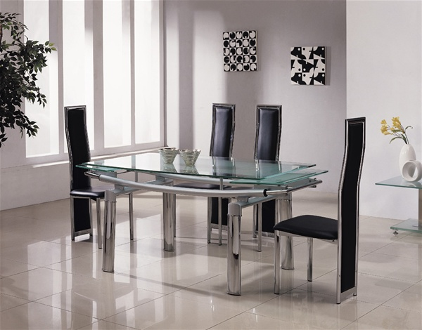 Gorgeous Extending Glass Dining Table And Chairs Extendable Glass Dining Table Freedom To