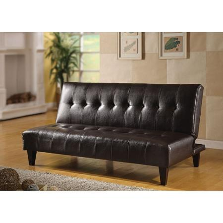 Gorgeous Faux Leather Futon Couch Brown Faux Leather Futon Roselawnlutheran