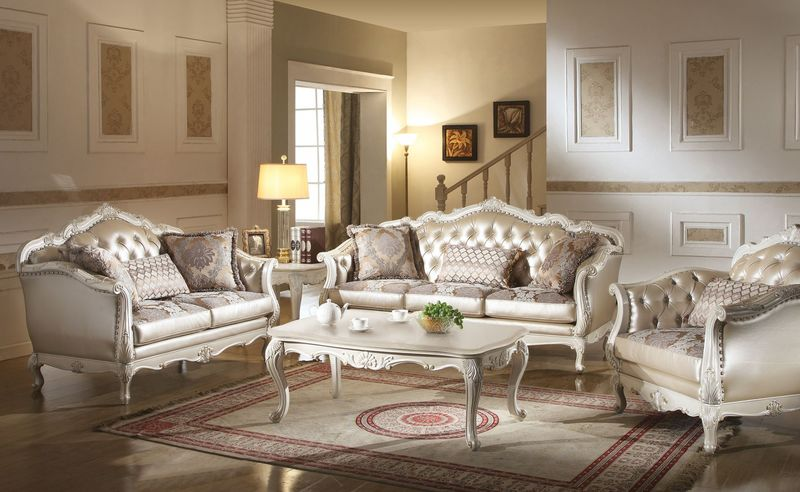 Gorgeous Formal Sofas For Living Room Von Furniture Chantelle Formal Living Room Set In White