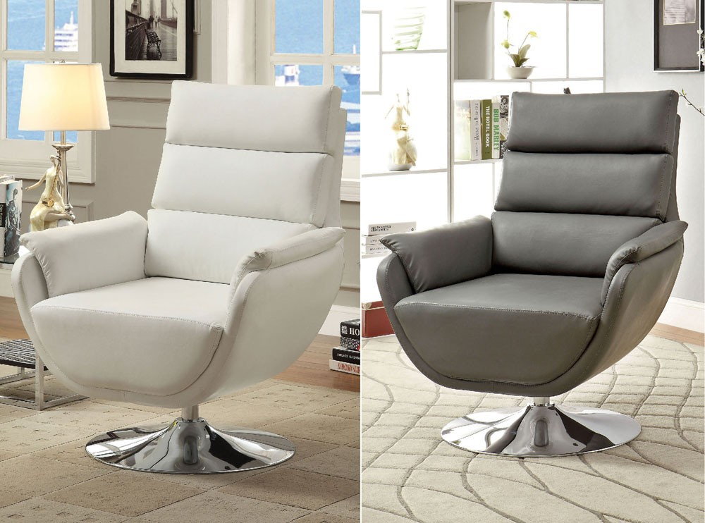 Gorgeous Grey And White Accent Chair Modern Swivel Accent Chair