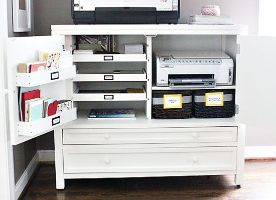 Gorgeous Home Office Desk With Printer Storage 366 Best Family Room Computer Armoiredesk Ideas Images On