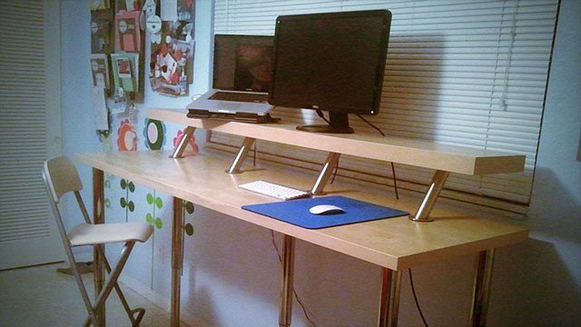 Gorgeous Ikea Build A Desk Build A Diy Wide Adjustable Height Ikea Standing Desk On The