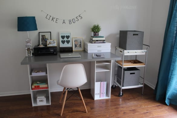 Gorgeous Ikea Build A Desk Ikea Hack Desk Diy For Under 60