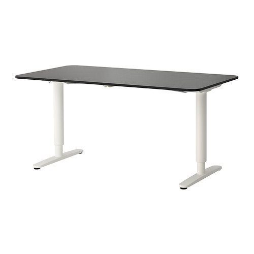 Gorgeous Ikea Lift Desk Bekant Desk Sitstand Black Brownwhite Ikea
