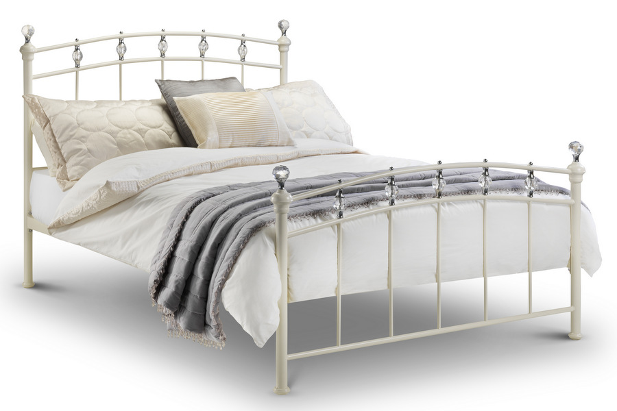 Gorgeous King Size Metal Bed Abdabs Furniture Sophie Stone White Metal Bed Frame King Size