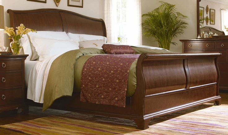 Gorgeous King Size Sleigh Bed With Mattress Sleigh Bed California King Daybed Vineyard King Bed Sleigh Bed