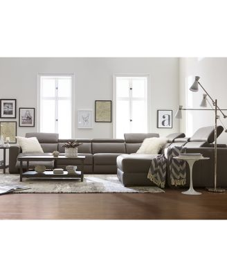 Gorgeous L Shaped Sectional Couch Nevio 5 Pc Leather L Shaped Sectional Sofa With 3 Power