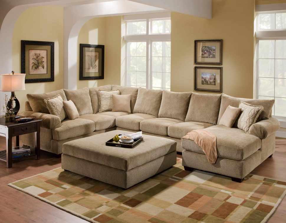 Gorgeous Large Microfiber Sectional Couch Sofa Brown Sectional Deep Sectional Sofa Comfy Sectionals Big