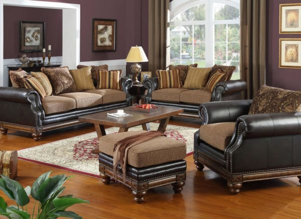 Gorgeous Leather And Fabric Living Room Sets Exquisite Fabric Living Room Furniture Using Leather And Fabric