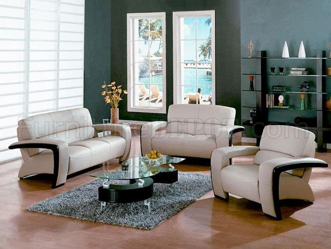 Gorgeous Leather And Wood Living Room Sets Sydney Dm 1004 Beige Leather Living Room Set Wespresso Wood Trim