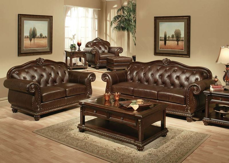 Gorgeous Leather Living Room Sets Von Furniture Anondale Formal Leather Living Room Set