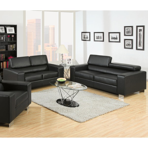 Gorgeous Leather Sofa And Loveseat Furniture Of America Mazri 2 Piece Bonded Leather Sofa And