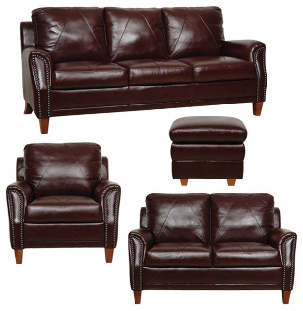Gorgeous Leather Sofa And Loveseat Genuine Italian Leather Sofa Loveseat Chair And Ottoman In Sienna