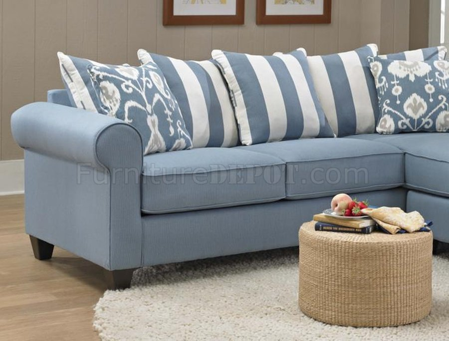 Gorgeous Light Blue Sectional Sofa Ivy Sofa Chaise In Light Blue Fabric Chelsea
