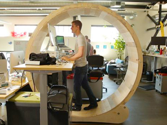 Gorgeous Make Your Own Office Desk Diy Human Hamster Wheel Lets You Conquer The Office Rat Race