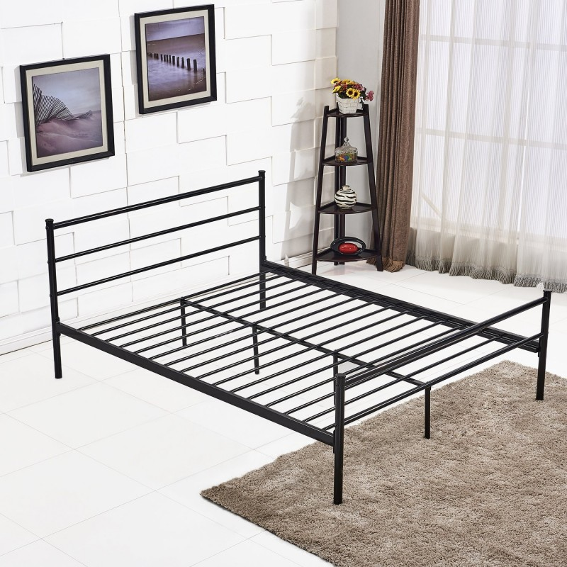 Gorgeous Metal Bed Frame With Headboard And Footboard Metal Bed Frame With Headboard And Footboard Queen Size Vecelo