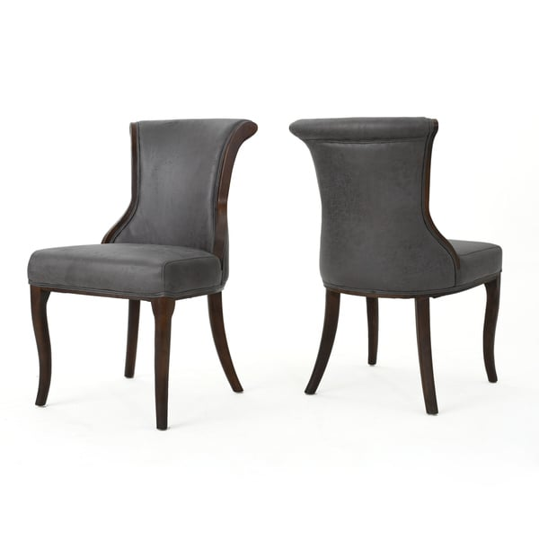 Gorgeous Microfiber Dining Chairs Lexia Microfiber Dining Chair Set Of 2 Christopher Knight