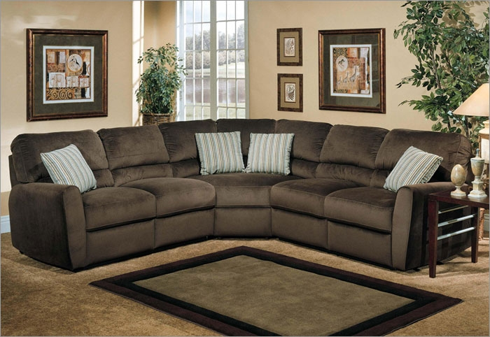 Gorgeous Microfiber Reclining Sectional With Chaise Sofa Sectional With Recliner And Plushemisphere Sofas Lovable