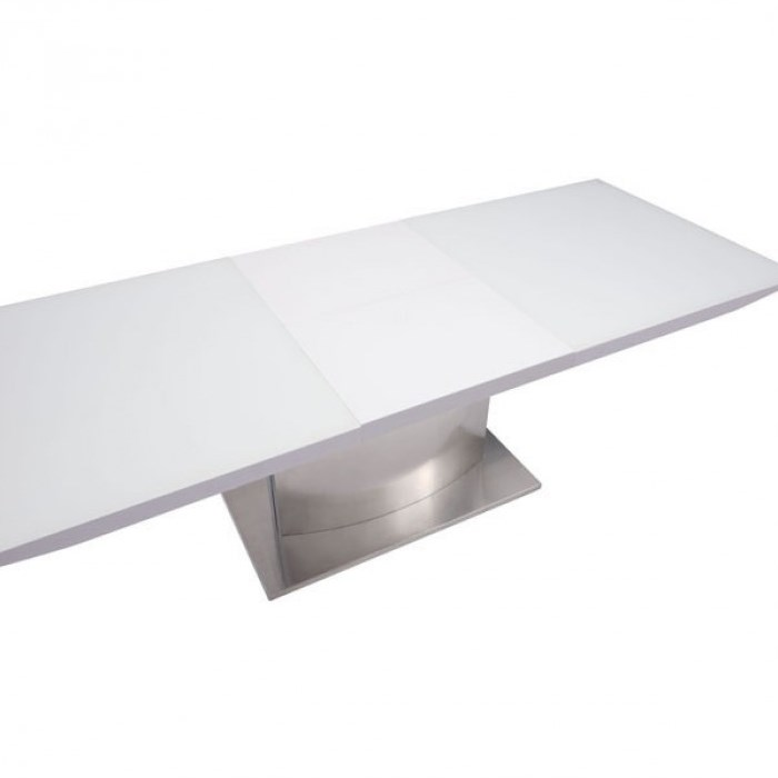 Gorgeous Modern Extension Dining Table Zuo 107860 Pierrefronds Extension Dining Table In White