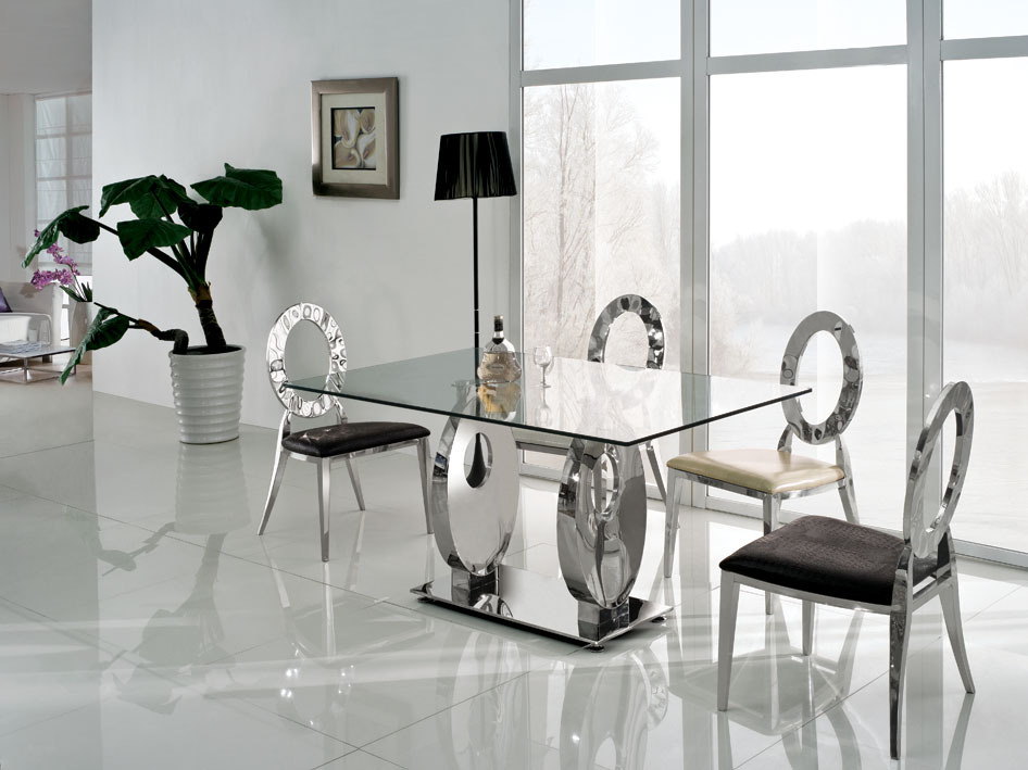 Gorgeous Modern Glass Dining Table Set Luxury Glass Dining Room Table Sets What Causes Scratches On Glass