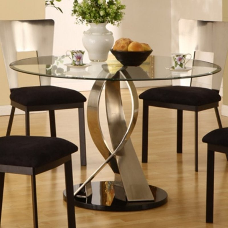 Gorgeous Modern Glass Round Dining Table Charming Round Glass Dining Room Tables With Best 25 Glass Round