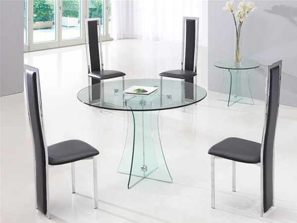 Gorgeous Modern Glass Round Dining Table Collection In Glass Dining Table With Glass Dining Table Martaweb