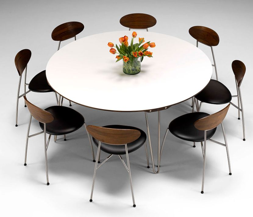 Gorgeous Modern Round Extendable Dining Table Dining Tables Enchanting Round Expandable Dining Table Ideas