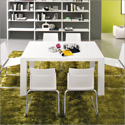 Gorgeous Modern Square Dining Table Modern Square Dining Table In Glossy White