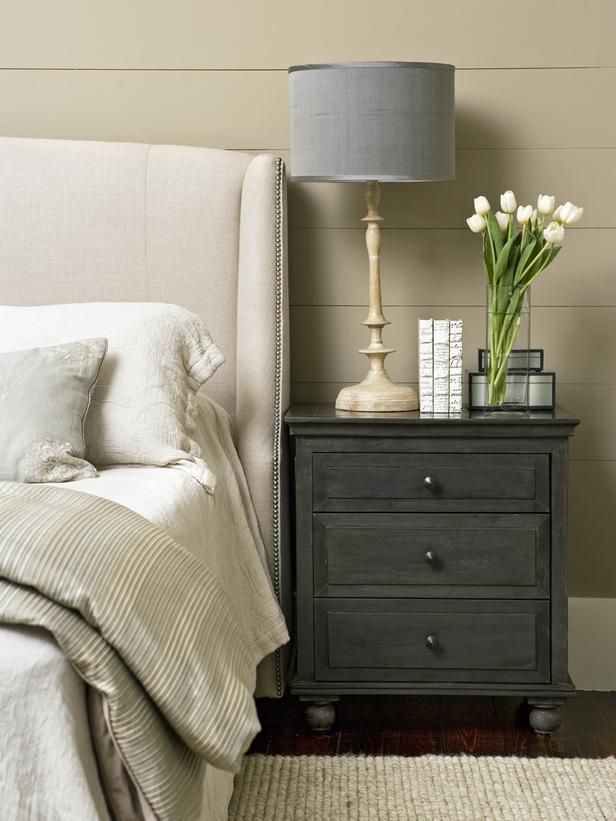 Gorgeous Nightstands For Tall Beds Tips For A Clutter Free Bedroom Nightstand Decorative Storage