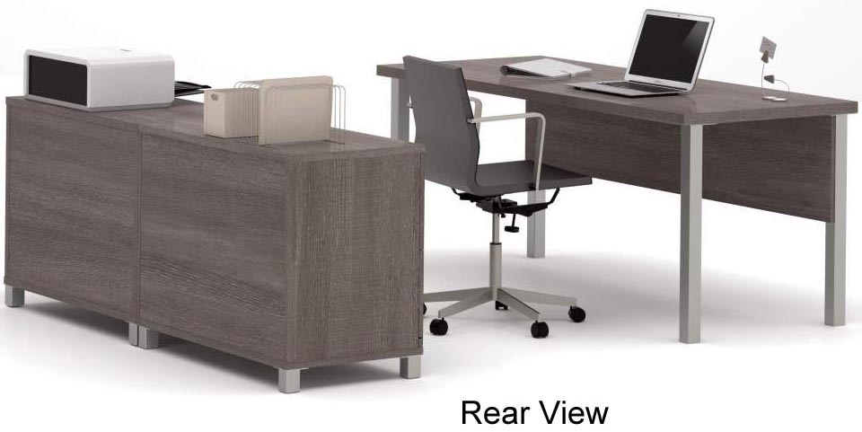 Gorgeous Office Desk Set Linear Metal Leg Modular Office Desk Series Executive Desk Set
