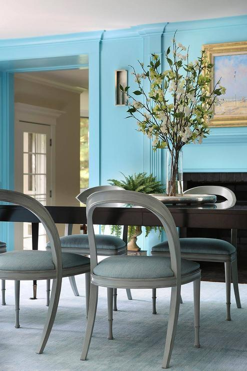 Gorgeous Open Back Dining Room Chairs Oval Black Dining Table With Gray Open Back Dining Chairs