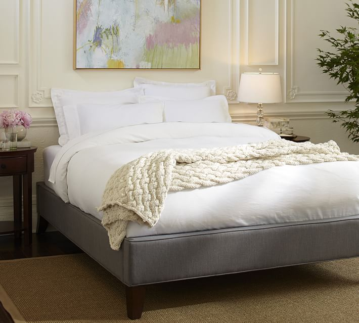 Gorgeous Platform Bed With Upholstered Headboard Fillmore Upholstered Platform Bed Pottery Barn