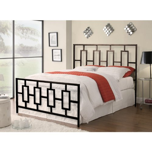 Gorgeous Queen Metal Bed Headboard Footboard Home Source Industries 13130 Queen Metal Bed Frame With Decorative